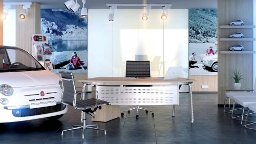 Elite Callisto Radius Crescent Workstation MDF 1900 x 1200mm