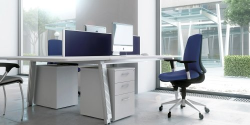 Elite Linnea Rectangular Desk with Shared Inset Leg 1000 x 800mm