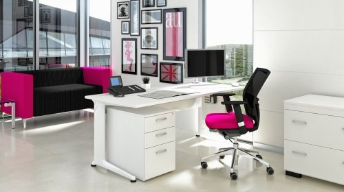 Elite Kassini Symmetrical Crescent Workstation 1600mm MFC Finish