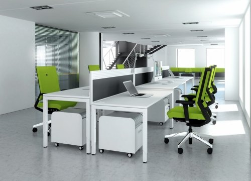 Elite Advance Secretarial Return - Height Settable MFC Finish 1000 x 600 x 650-850mm