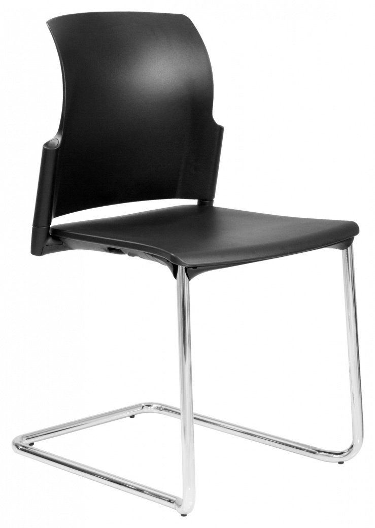Elite leola cantilever chair without arms for Furniture direct
