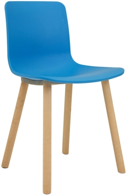 Ben Breakout Chair with Polypropylene Shell & Beech Leg