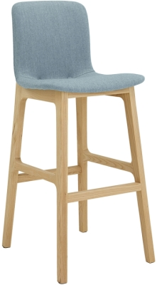 Elite Bill Upholstered Bar Stool with Beech Leg