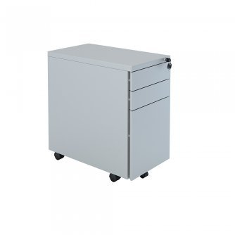 Elite 3 Drawer Steel Flat Fronted Mobile Pedestal