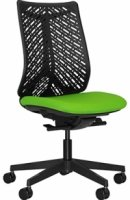 Elite Airflex Task Chair with Flexible Contoured Back Without Arms