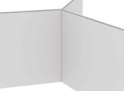 Elite Floor Standing Screen 3 Way Linking Posts - 27 x 27 x 1700mm