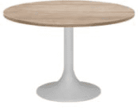 Elite Circular Trumpet Base Meeting Table MFC Finish - 600 x 725mm