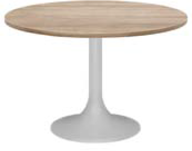 Elite Circular Trumpet Base Meeting Table MFC Finish - 800 x 725mm