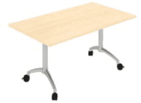 Elite Fliptop Rectangular Table MFC Finish - 1200 x 800 x 725mm