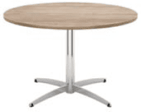 Elite Cascara Circular Meeting Table MFC Finish - 1000 x 725mm