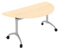 Elite Fliptop Semi Circular Table MFC Finish