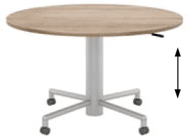 Elite Mobile Sit & Stand Meeting Table MFC Finish - 1200 x 725-1050mm
