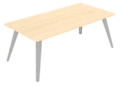 Elite Reflex Rectangular Meeting Table 2000 x 1200 x 740mm