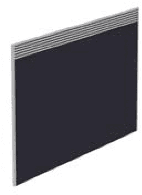 Elite Floor Standing Screen With Management Rail - Fabric 773 x 27 x 1115mm