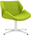 Elite Cascara Medium Back Fully Upholstered Swivel Chair