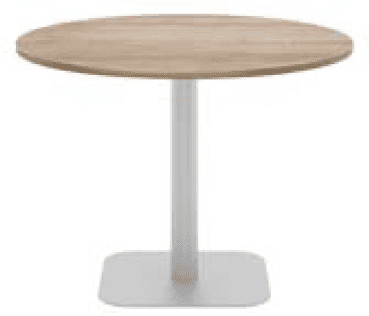 Elite Circular Meeting Table MFC Finish Square Base - 800mm
