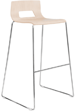 Elite Multiply Sled Base Open Back Bar Stool