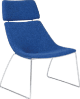 Elite Escape Lounger Sled Base Chair with Headrest