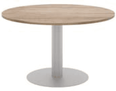 Elite Circular Meeting Table MFC Finish - 1200 x 725mm