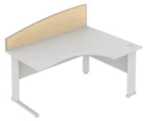 Elite Desk Mounted Curved System Screen MFC - Width 773mm