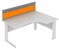 Elite System Desk Mounted Acrylic Screen With Management Rail 1773mm Width