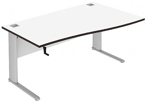 Elite Optima Plus Single Wave Height Adjustable Desk MFC - W1600 x D800-600 x H650-850mm