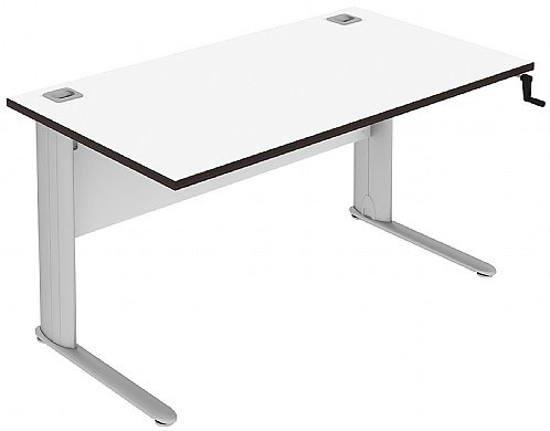 Elite Optima Plus Rectangular Hand Crank Desk - (w) 800mm x (d) 600mm