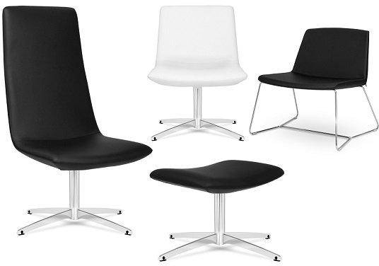 Elite chique lounge swivel chair black leather - Landelijke chique lounge ...