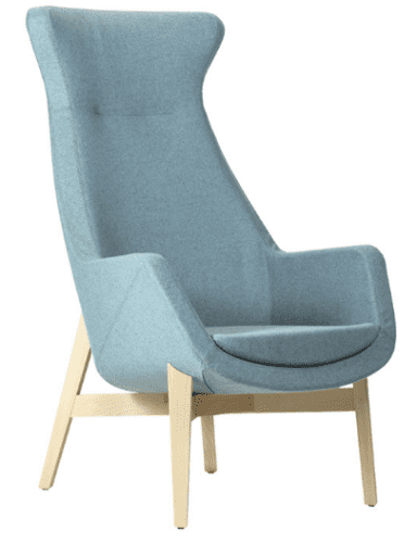Elite Elipsa High Back Lounge Chair with Wooden Frame