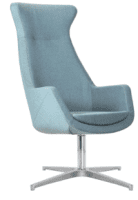 Elite Elipsa High Back Lounge Chair with Polished 4 Star Swivel Base