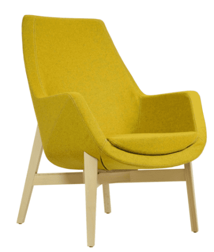 Elite Elipsa Medium Back Lounge Chair with Wooden Frame