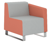Elite Ella One Seater Right Arm Full Back Chair