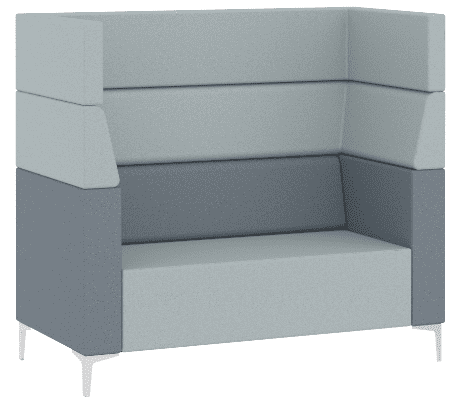 Elite Evor Two Seater Sofa with Arms & Full High Back