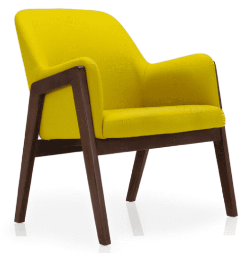 Elite Lusso Lounge Chair with Wooden Frame