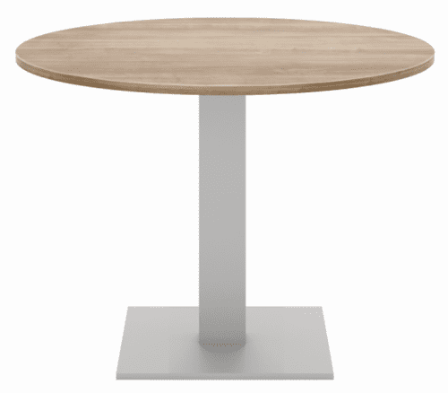Elite Circular Meeting Table MFC Finish Square Base - 1000mm