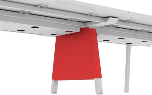 Elite Linnea Intermediate Vertical Leg Wire Management Plates - Use With 1600mm Desk