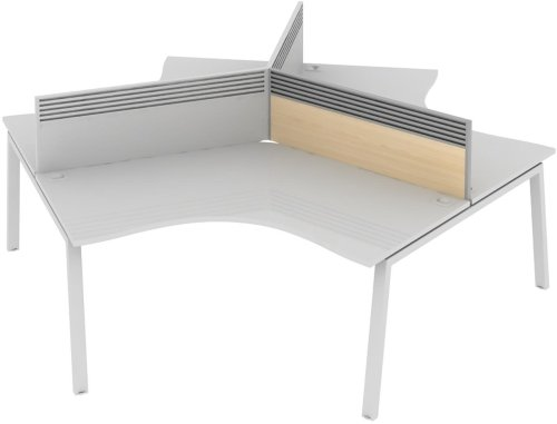 Elite Linnea System Screen 120 Degree with Management Rail - MFC 979 x 27 x 375mm
