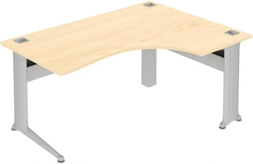 Elite Kassini Crescent Workstation - (w) 1600mm x (d) 1200mm MFC Finish