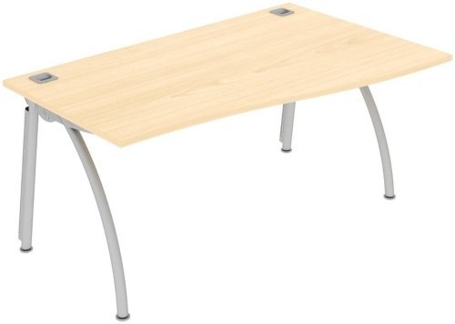 Elite Callisto Single Wave Desk - W1600 x D800-600 x H740mm