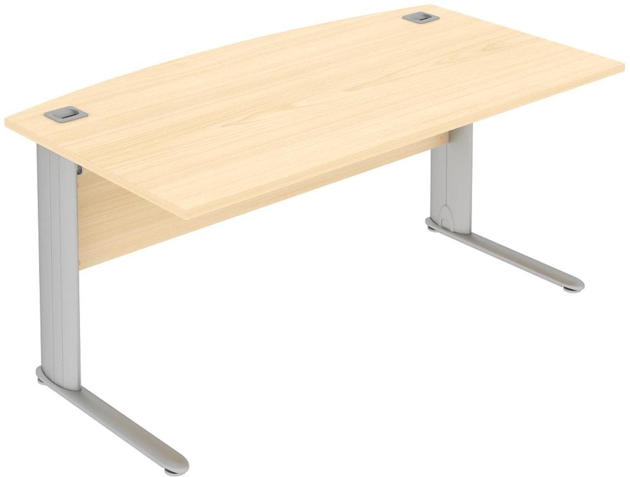 Elite Optima Plus Bow Fronted Rectangular Desk 1600 X 900mm