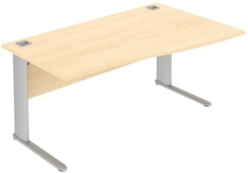 Elite Optima Plus Single Wave Desk 1600 x 600-800mm