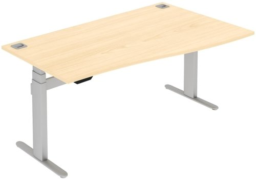Elite I Frame Single Wave Electronic Height Adjustable Sit & Stand Desk 1400mm MFC Finish