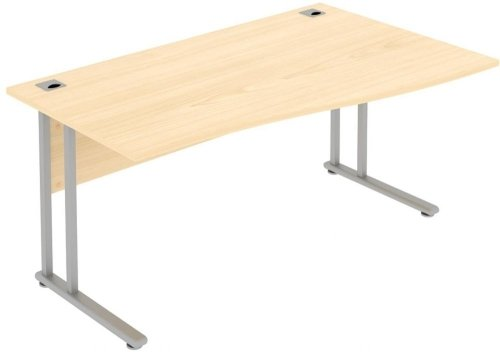 Elite Flexi Single Wave Desk 1800 x 800-600mm