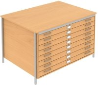 Elite Norton A0 Plan 8 Drawer Chest MFC Finish