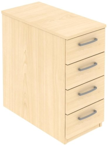 Elite 4 Drawer Narrow Mobile Pedestal - Standard Drawer (w) 298mm x (d) 600mm