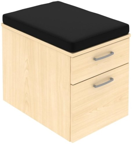Elite 2 Drawer Low Mobile Pedestal with Seat Pad 418 x 600 x 542mm