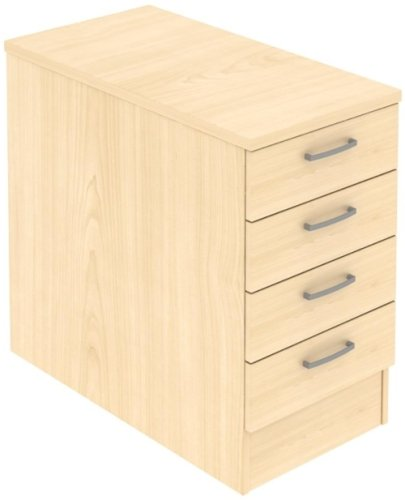 Elite 4 Drawer Desk High Pedestal - System Drawer (w) 418mm x (d) 600mm