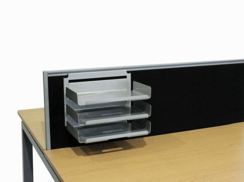 Elite Desk Top Filing System (3 X Hanging Landscape A4 Paper Trays & Stacker)