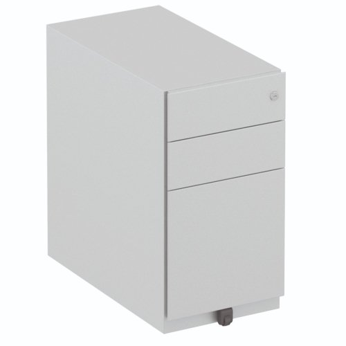 Elite 3 Drawer Narrow Flat Steel Pedestal