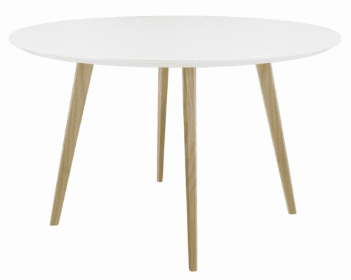 Elite Piazza Circular Top Square Wooden Leg Meeting Table - 1200 x 1200 x 725mm